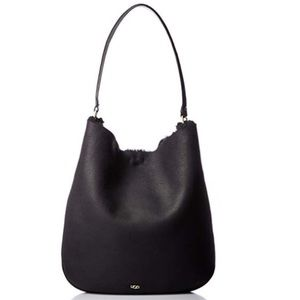 ❤️New Ugg Claire Hobo Sheepskin Black Bag Last 1